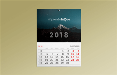 Calendarios de pared con faldilla