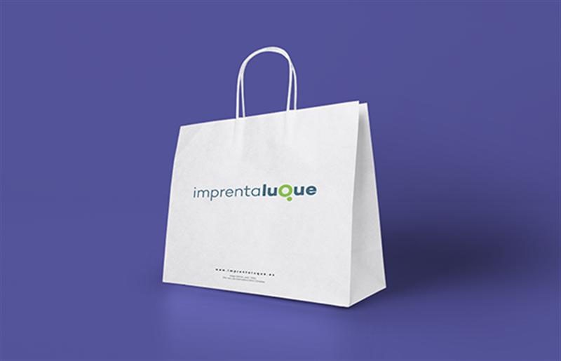 b60443f8767b Bolsas de papel personalizadas baratas | Imprenta LUQUE